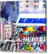 Rainy City Canvas Print