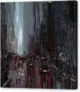 Rainy City. Part II Canvas Print
