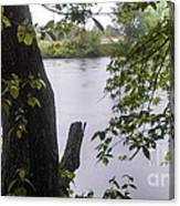 Rainy Day At The River Canvas Print