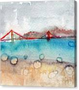 Rainy Day In San Francisco  Canvas Print