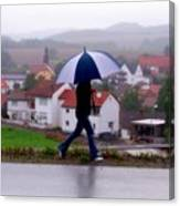 Rainy Day In Sembach Canvas Print
