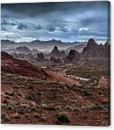 Rainy Day In The Desert Canvas Print