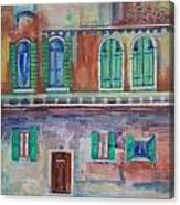 Rainy Day In Venice Italy Canvas Print