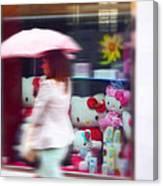 Rainy Day Kitty Canvas Print