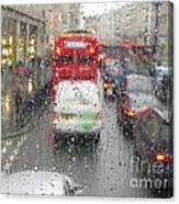 Rainy Day London Traffic Canvas Print