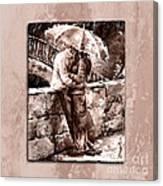Rainy Day - Love In The Rain Style Mistyrose Canvas Print