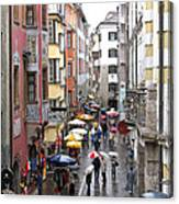 Rainy Day Shopping Canvas Print