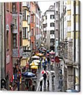 Rainy Day Shopping Canvas Print