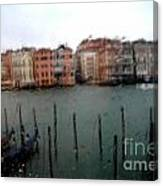 Rainy Day View From Palazzo Grassi Canvas Print