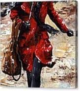 Rainy Day - Woman Of New York 10 Canvas Print