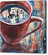 Rainy Diamonds Cafe' Canvas Print