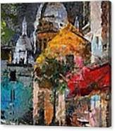 Rainy Evening In Montmartre Canvas Print