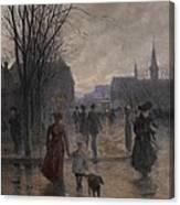 Rainy Evening On Hennepin Avenue Canvas Print