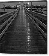 Rainy Evening On The Dock Canvas Print