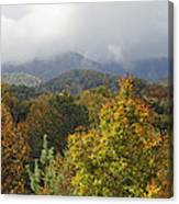 Rainy Fall Day In The Mountains Canvas Print