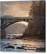 Rainy River Canvas Print