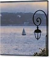 Rainy Sail Canvas Print