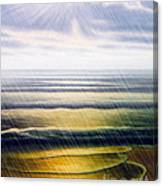 Rainy Seascape Canvas Print