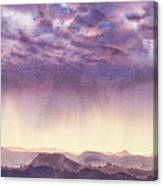 Rainy Sunset In New Mexico Canvas Print