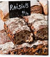 Raisin Bread Canvas Print