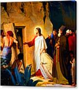 Raising Of Lazarus Canvas Print
