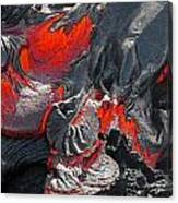Raked Over The Coals Canvas Print