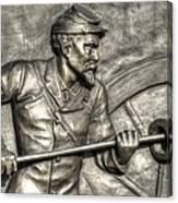 Ramming The Charge. Detail-c 1st New York Light Artillery Fitzhughs Battery K Gettysburg Canvas Print