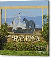 Ramona Welcome Canvas Print