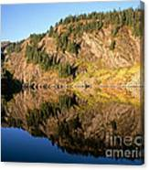 Rampart Ridge In Rachael Lake Canvas Print