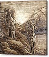 Rams Relief Canvas Print