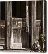 Ranch Cabin Old Door In Antique Color 3007.02 Canvas Print