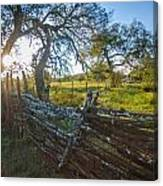 Ranch Fence Canvas Print