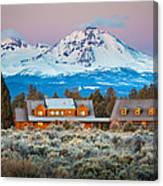 Ranch House And Sisters Canvas Print
