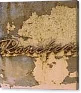 Ranchero  Canvas Print
