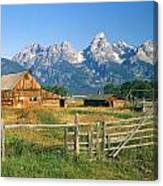 1m9392-ranchland And The Tetons Canvas Print