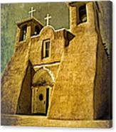 Ranchos Church In Old Gold Canvas Print