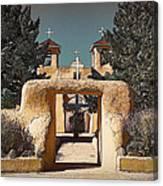 Ranchos Gate In Gum Bichromate Canvas Print