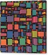 Random Cubes Canvas Print