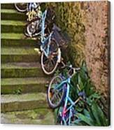 Range Of Bikes Canvas Print