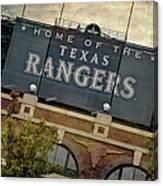 Rangers Ballpark In Arlington Color Canvas Print