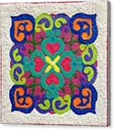 Rangoli Made With Powder Colour Canvas Print