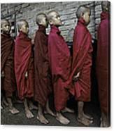 Rangoon Monks 1 Canvas Print