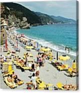 Rapallo Beach Canvas Print