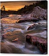 Rapids At Dawn Canvas Print