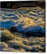 Rapids At Dusk Canvas Print