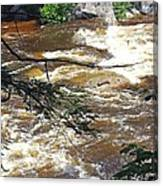 Rapids Of The Swift River Kancamagus Hwy View White Mountains Nh Canvas Print
