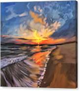 Rare California Sunset Canvas Print