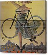 Rare Vintage Paris Cycle Poster Canvas Print