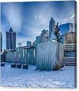 Rare Winter Scenery Around Charlotte North Carolina Canvas Print