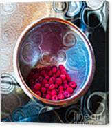 Raspberry Reflections Canvas Print